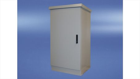 Outdoor cabinet met plint, enkelwandig, 600x600x500mm, IP55