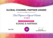 Koning & Hartman wint Global Channel Partner Award